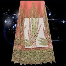 (5yards/lot) SDPN54,hot sale high quality tulle lace fabric with rhinestone decoration free shipping