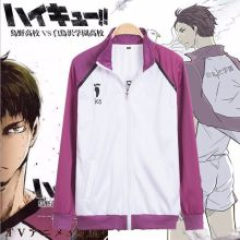 HOT Anime Haikyuu Shiratorizawa Gakuen Cosplay Uniform Coat Jacket Top Men Women Clothing
