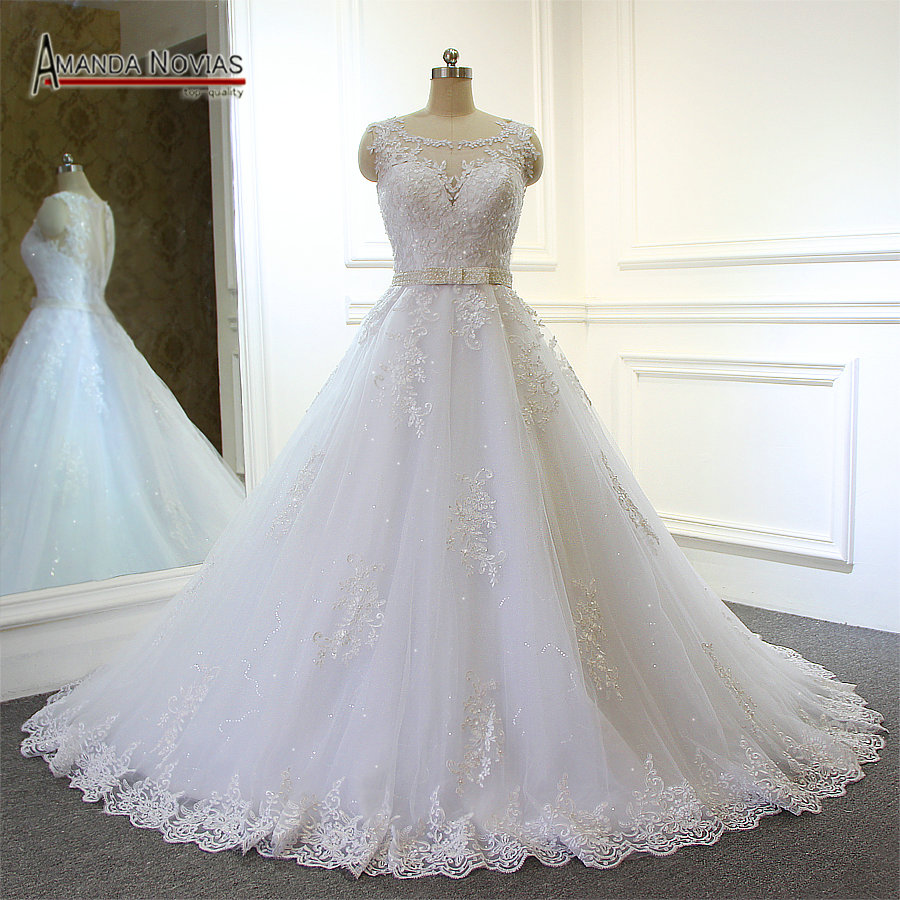 Amanda Novias 2017 Real Pictures Wedding Dress Bridal