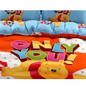 Image 2 - Juego de funda de edredón de Winnie de Disney, ropa de cama de tamaño individual, para niños, decoración de dormitorio, 3 o 4 piezas