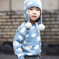 New 2016 Kids Choses Girls Cardigan Spring Kikikikds Children Knitted Sweaters Clouds Pullovers Baby Boy Clothes Girls Sweaters