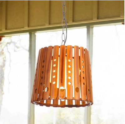 где купить American rural traditional bamboo perforated pendant lights Europe cottage retro classic lights for stairs&corridor&porch LDK003 дешево