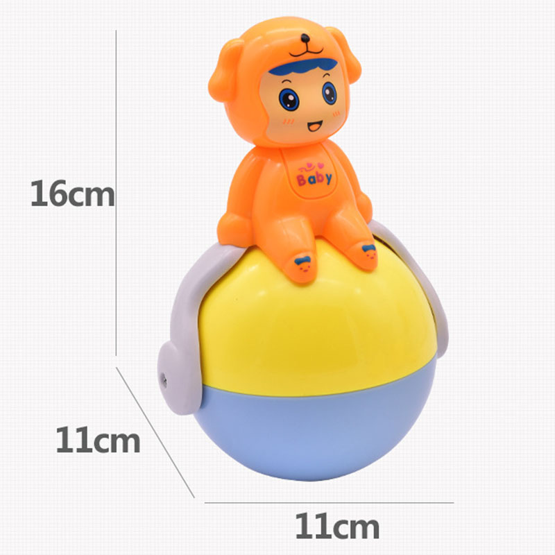 Tumbler Toys For Boys Girls Toddler Baby Cute Cartoon Music Bell Learning Education Yjs Dropship