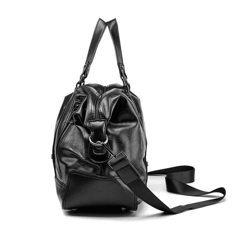 Image 2 - Men Handbag Leather Large Capacity Travel Bag Fashion Shoulder  Bag Male Travel Duffle Tote Bag Casual Messenger Crossbody BagsTravel  Bags