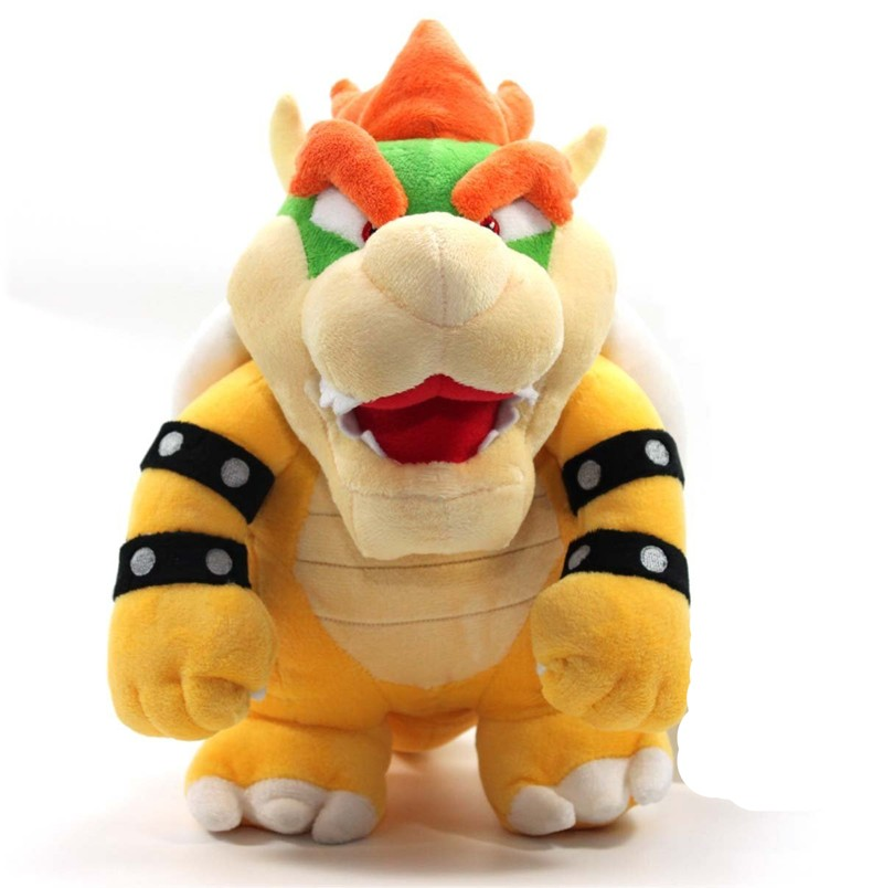 """[ Funny] Catoon Film anime 10"""" 26cm Bowser dragon Soft Stuffed Plush Toy doll model baby kids best gift(China)"""