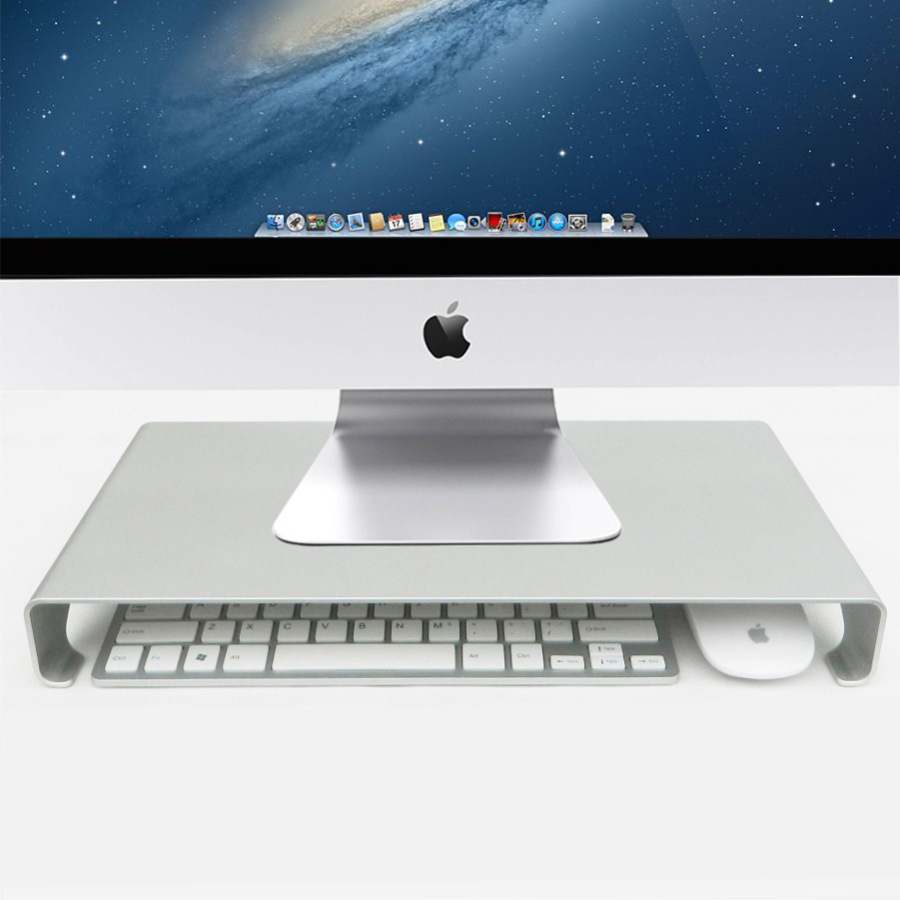 Monitor Riser Stand Universal Aluminium Steady Monitor Laptop For iMac MacBook PC Stand with Keyboard Storage