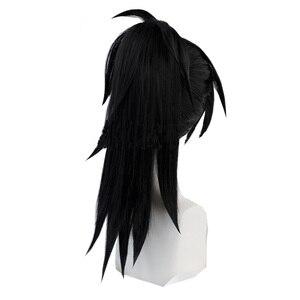 Image 4 - Cosroad Anime Dororo Hyakkimaru Kimono Wigs Black high temperature wig Cosplay Men Women Wig Halloween Party