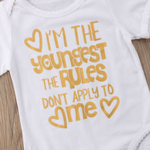 Matching Sister Funny Shirt Romper Outfit