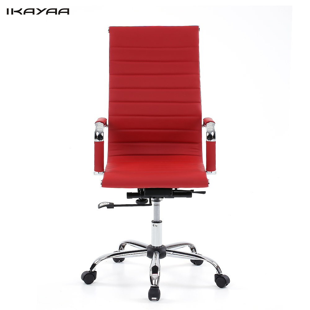 ikayaa us stock pu leather office chair stool adjustable swivel high back computer task office furniture