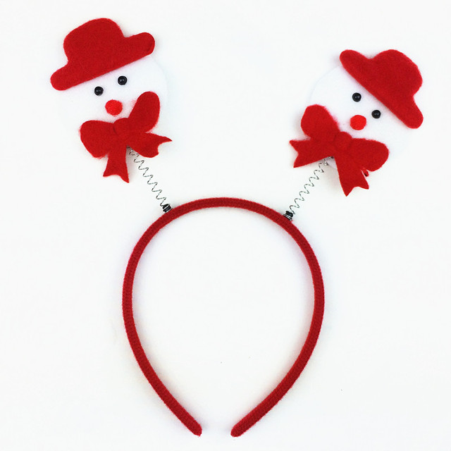 QCOOLJLY Crazy Christmas Hair Band Christmas Deer Ears Children Adults Bell  Red Antler Head Buckle Gifts Party Decoration b97ae94fc1a