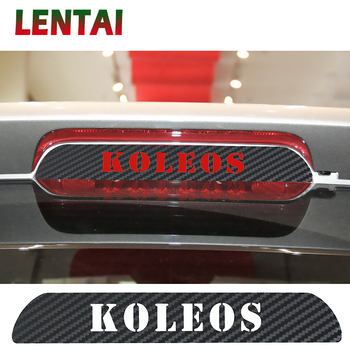 OVERE High Brake Light Auto Accessories Black Carbon Fiber Stickers Decoration Decal Car Styling For Renault KOLEOS 2009-2016 image