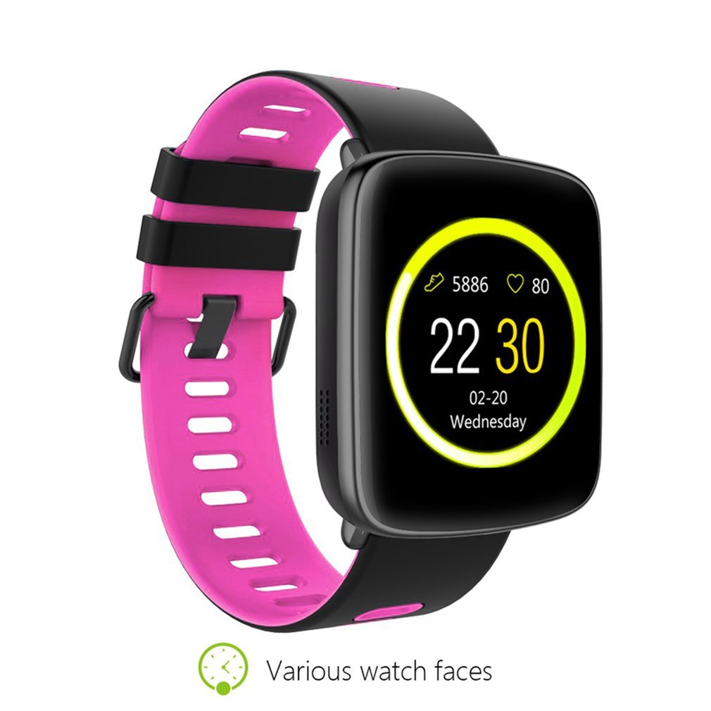 GV68 Waterproof Smart Watch Pedometer Reminder Remote Heart Rate Monitor Fitness Watch Silicone Strap Wristwatch for IOS цена