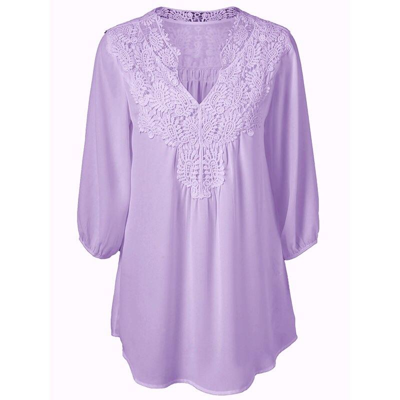 HTB1nyKrNpXXXXbUXVXXq6xXFXXXN - Summer Elegant Women Lace Blouses Floral Crochet Chiffon Shirt
