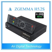 5 pcs/lot zgemma h5.2s twin tuner dvb s2/s satellite tv receiver with h.265 decoding