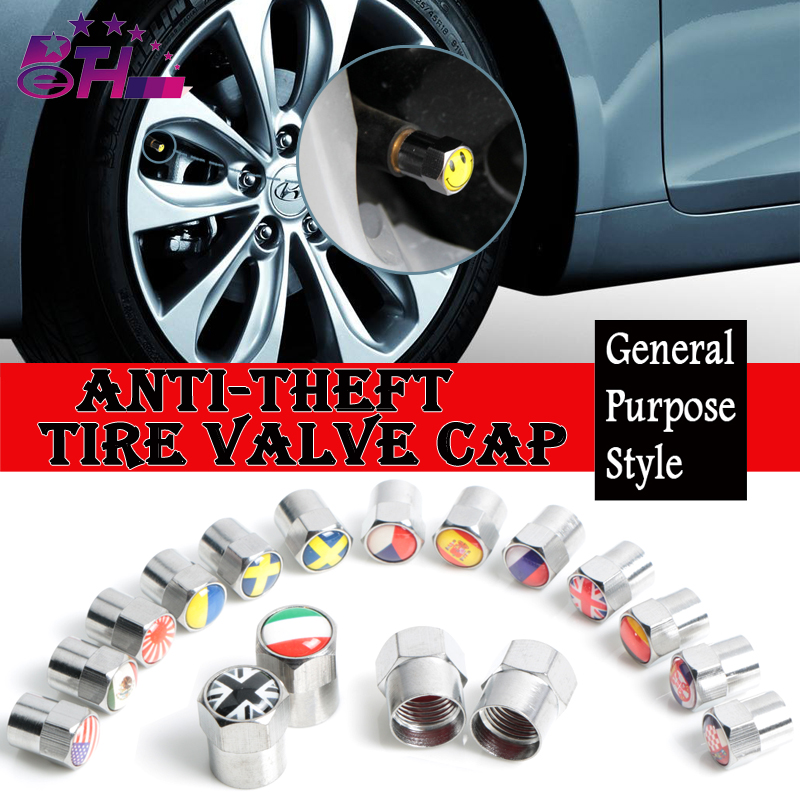 4Pcs Car Tire Valve Caps Car Styling Air Tyre Stems Cover Auto Motorcycle Wheel Accessories Germany Russia Italy national flag