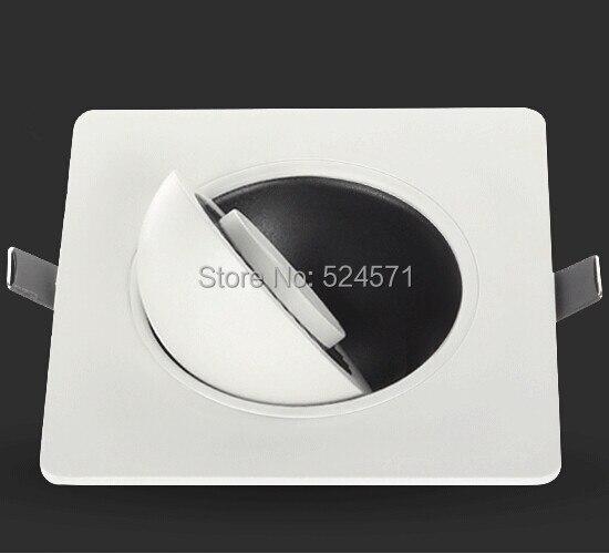 Бесплатная доставка 10 Вт 360 градусов rotatin Теплый Холодный белый светодиод Подпушка свет AC85-260V затемнения утопленное потолочный светильник