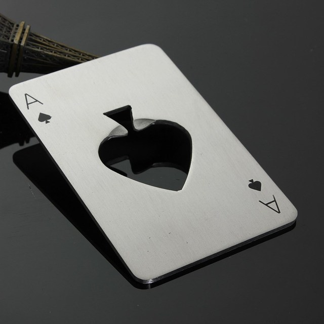 Card Ace of Spades Bottle Cap Opener useful gadgets