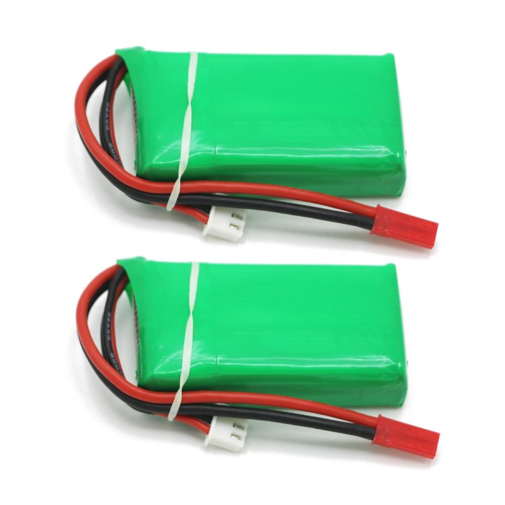 2 pcs/lot Rc Lipo Batterie 7.4 V 900 MAH 25C 2 s Haute Puissance Lipo batterie AKKU Max 30C pour Wltoy V912 Rc Hélicoptère RC Modèle