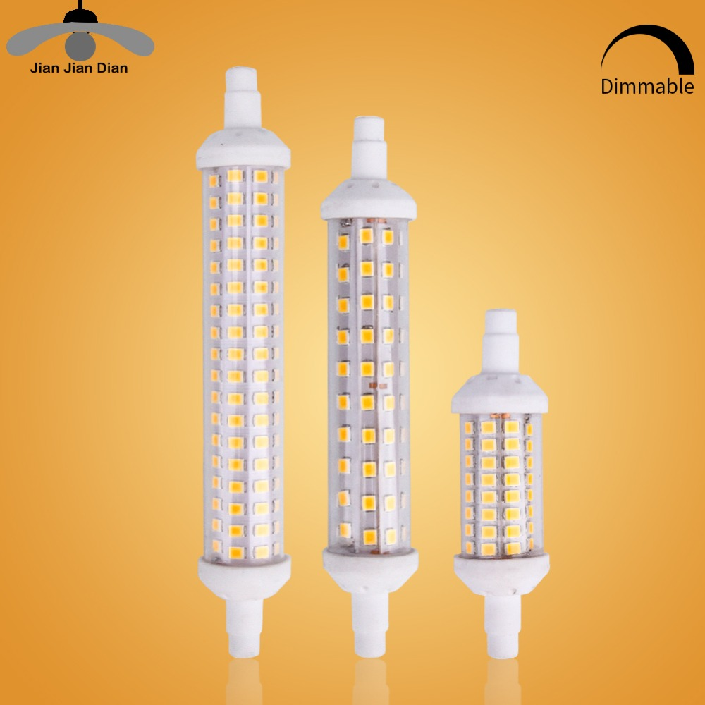 220V R7S LED flood Light 78mm 118mm 135mm Replace Halogen 4W 8W 10W 12W SMD LED Spotlight lamp Bulb For outdoor Floodlight r7s led lamp 78mm 118mm 5w 10w led r7s light corn bulb smd2835 led flood light 85 265v replace halogen floodlight page 2