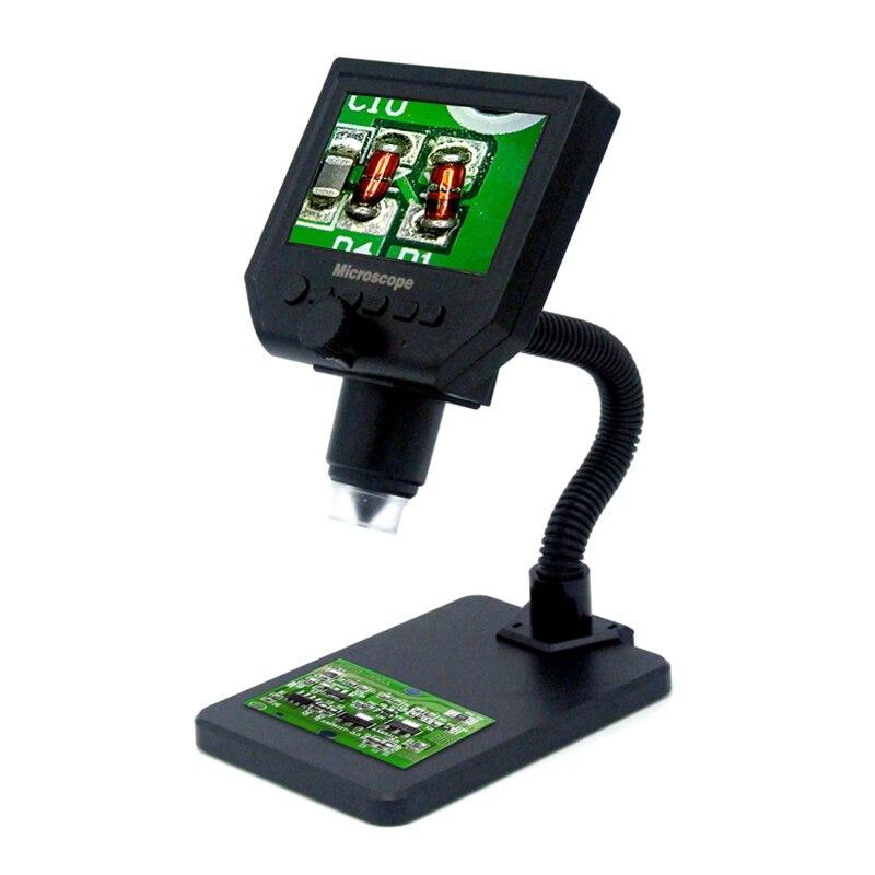 600x Цифровые микроскопы 4,3 ЖК-дисплей электронных HD видео микроскоп USB пайки микроскоп с подставкой для печатной плате ремонт