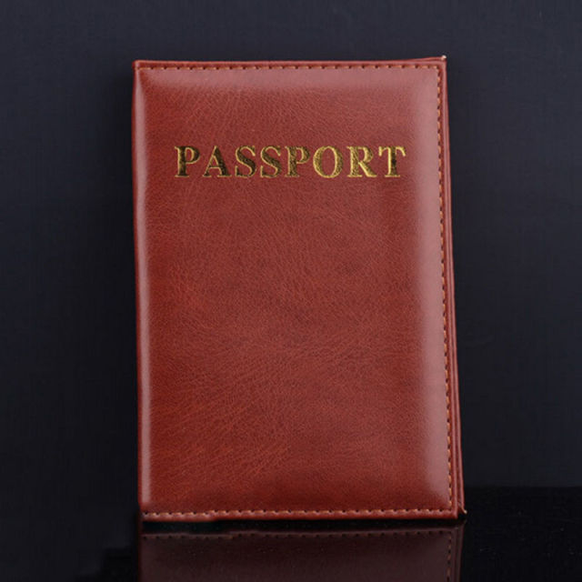 US $1 05 16% OFF|4 Colors Fashion Passport Cover PU Leather ID Holders  Documents Bag Casual Travel Passport Holder Card Case-in Card & ID Holders  from