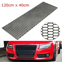 120cm Universal Car Styling Air Intake Racing Honeycomb Meshed Grill Spoiler Bumper Hood Vent
