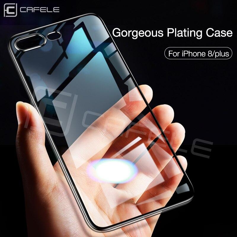 Cafele Silicone Phone Case for iPhone 7 8 Plus Luxury Clear Original Soft TPU