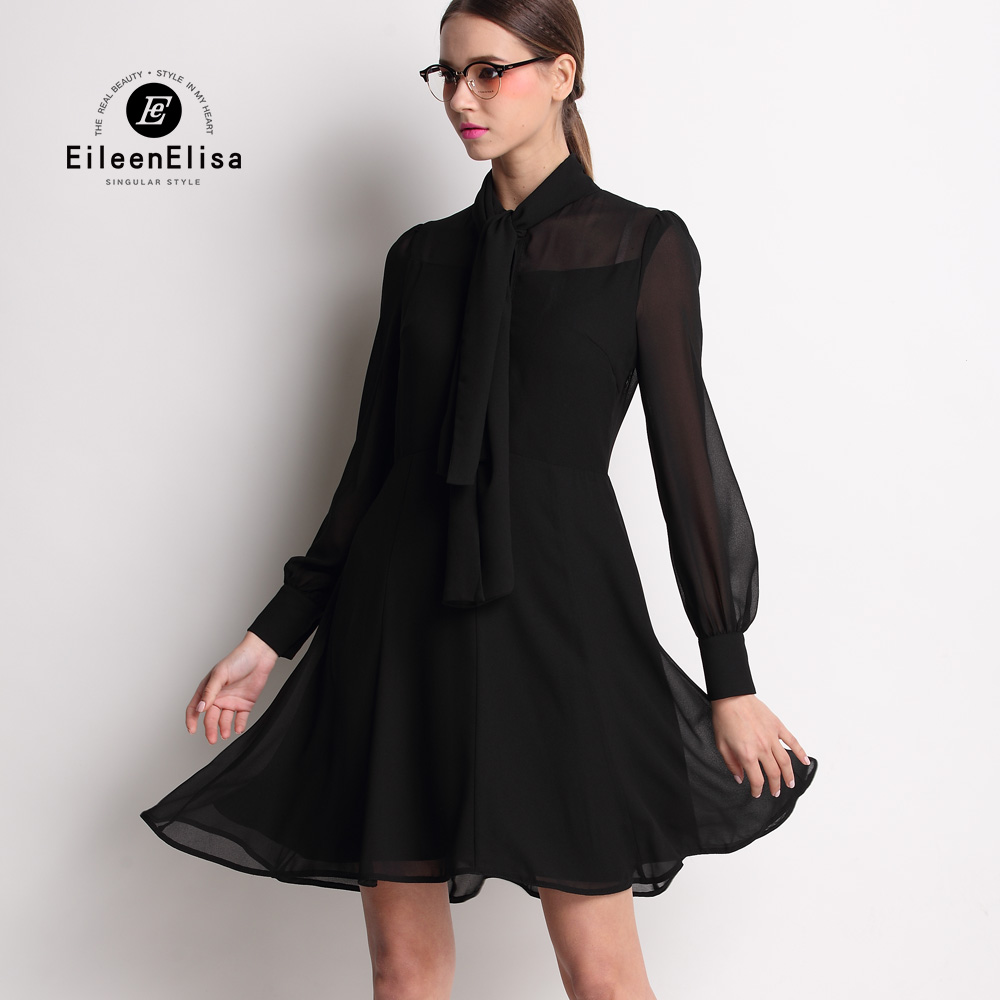 Runway Dress 2017 Luxury Black Dress Women Silk Dress High Quality Spring Dresses in Dresses from Women 39 s Clothing