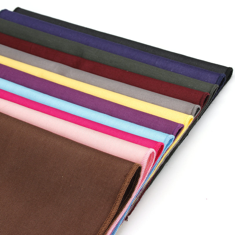 New High End 13 Colors Solid Color Plain Pocket Hanky Bussiess Party Suit Accessory Wedding Gift