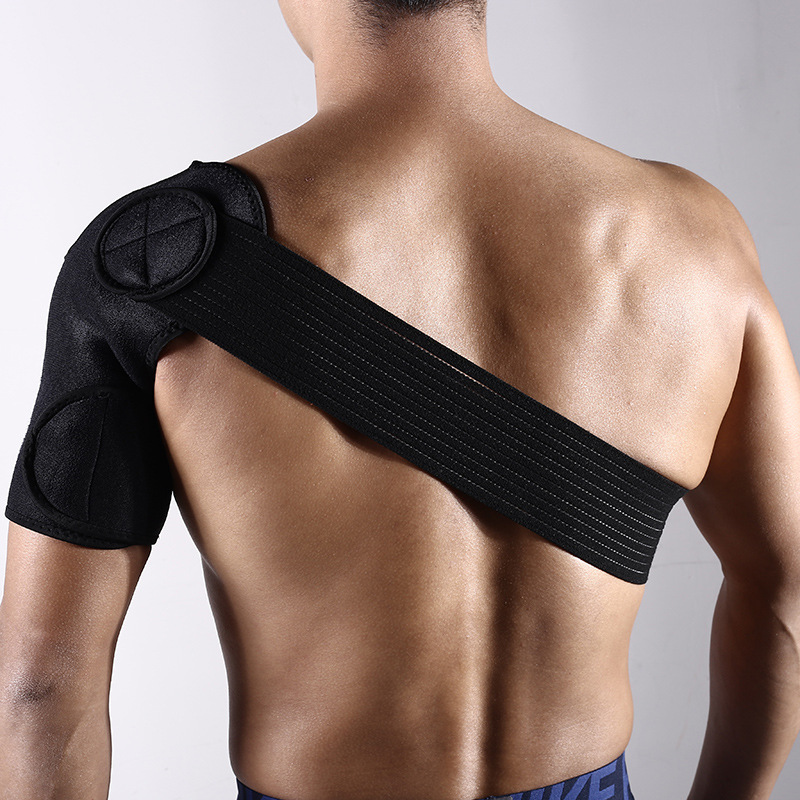 Health Support Adjustable Bandage Protector Reinforced Functional Training Equipment Single Shoulder Strap Pad Injury Prevention