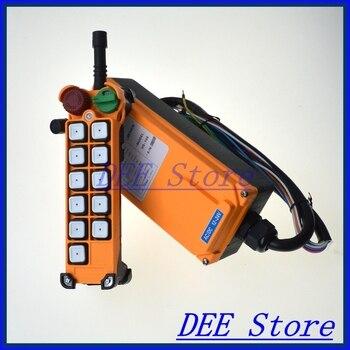1 velocidad 1 transmisor 10 canales polipasto camión Radio Control remoto sistema de interruptor de botón con parada de emergencia