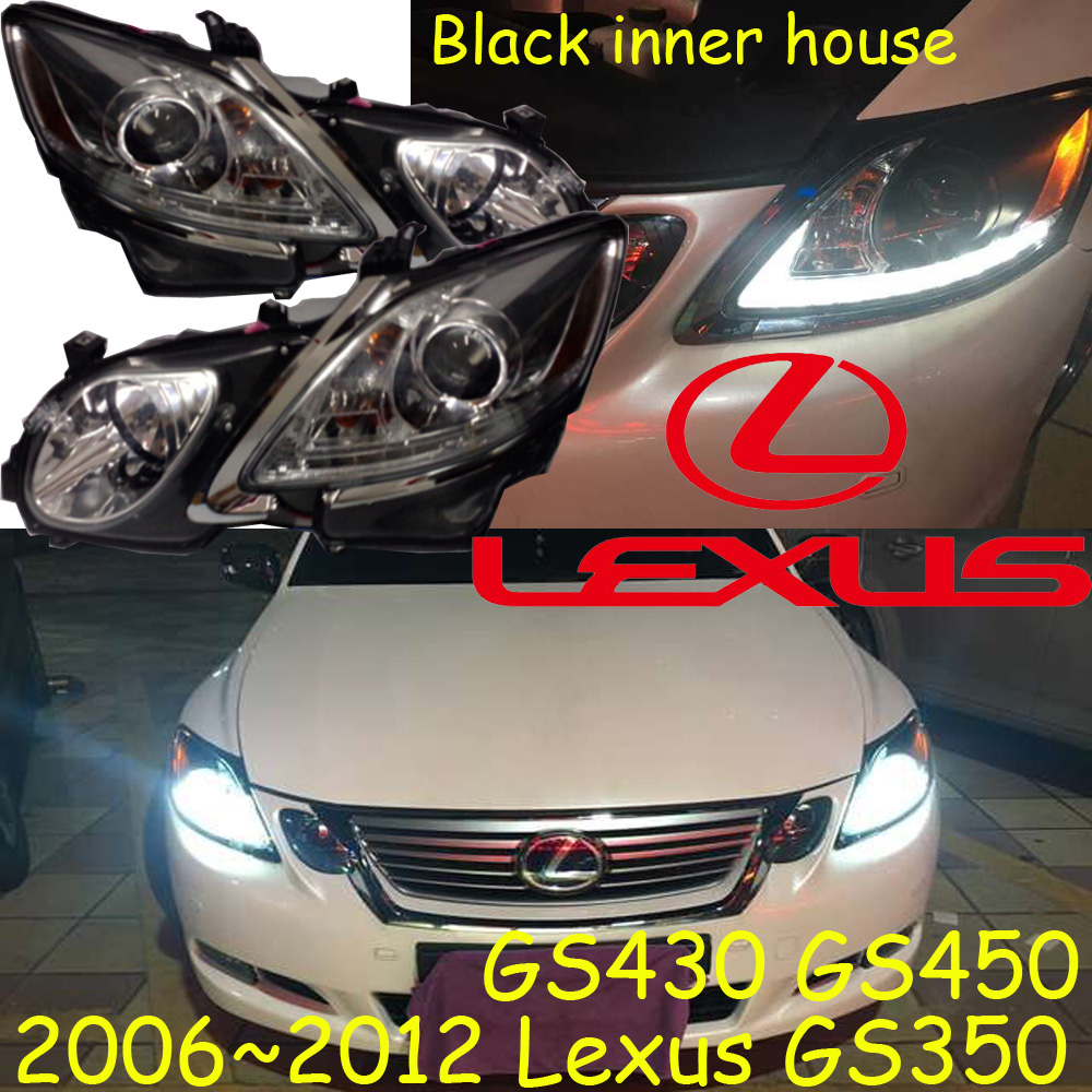 car-styling,GS350 headlight,GS430 GS450,2006~2011,(pls use your original car HID and ballast),GS350 fog,LED,GS350 head lamp