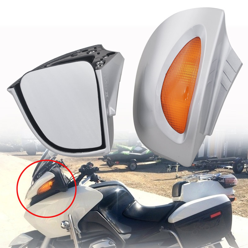 Motorcycle Side Rear mirrors Rearview W/Turn signal Lens Fits For BMW R1100RT <font><b>R1150RT</b></font> R1100 RT RTP R1150 RT image