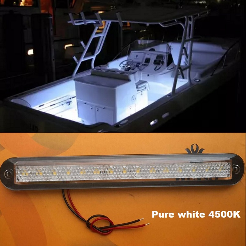 2*LED 12V Courtesy Lights RV Caravan Trailer Boat Marine Onboard Accent Lighting