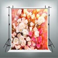 San Valentino Fotografia di Sfondo Romantico Amore Photo Booth Fondali Rosso Fiori Bianchi Sfondo per Studio Fotografico