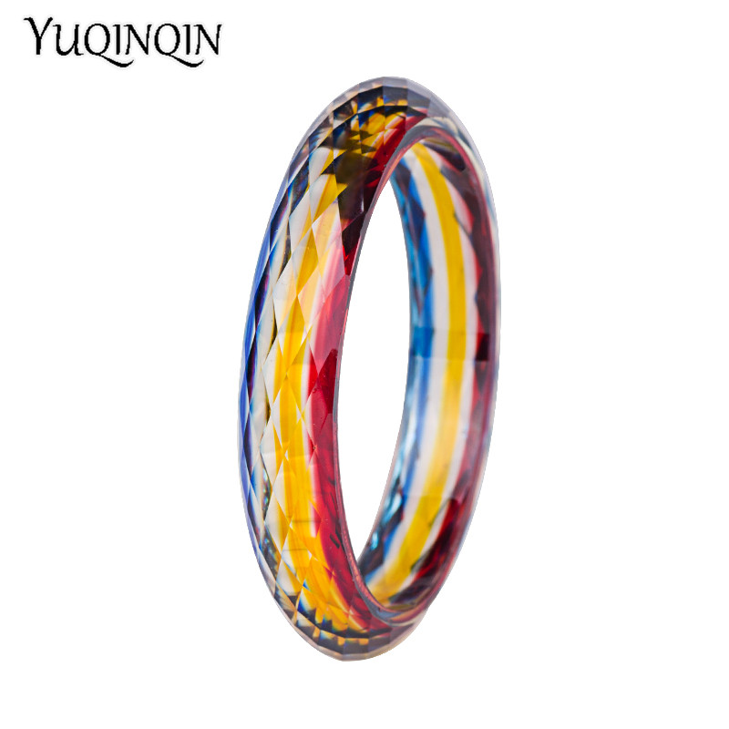 Trendy Fashion Acrylic Cuff Bracelets Bangles for Children 2018 Statement New Resin Vintage Simple Kids Charm Bangles Jewelry