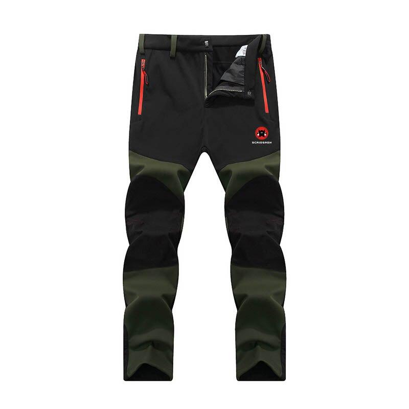 Зимние мужские брюки Софтшелл, уличные водонепроницаемые флисовые походные спортивные брюки для кемпинга, быстросохнущие теплые штаны для трекинга, рыбалки|Походные штаны|   | АлиЭкспресс