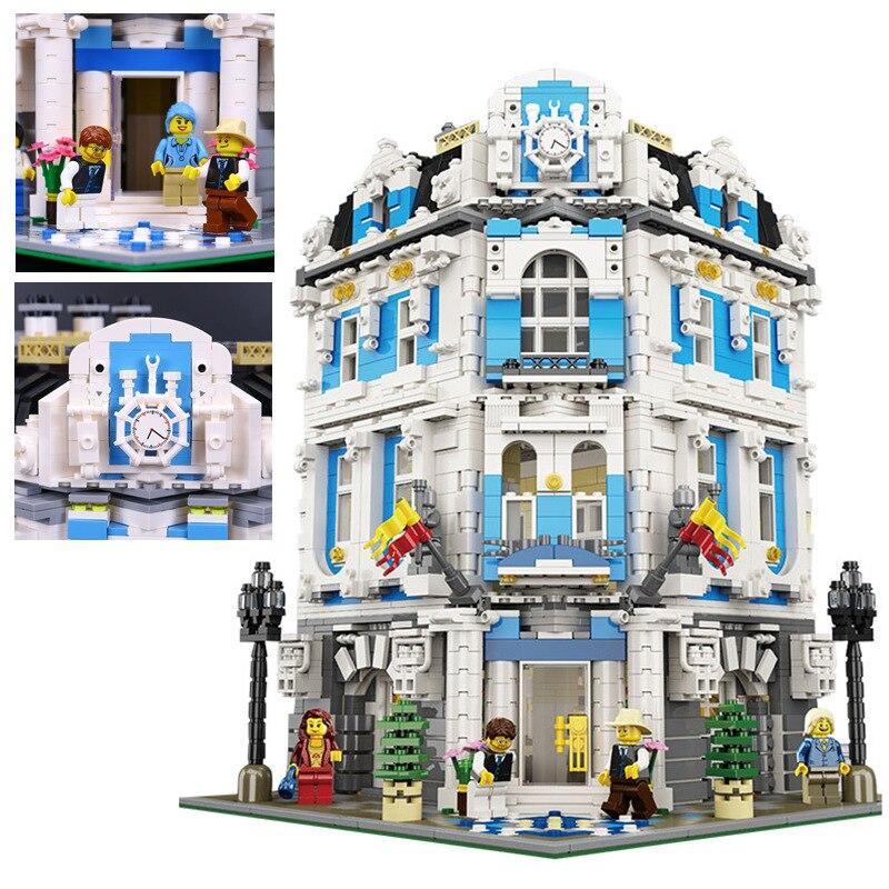 купить New 3196pcs 15018 MOC City Series The Sunshine Hotel Set Building Blocks Bricks Educational Toys по цене 6459.76 рублей