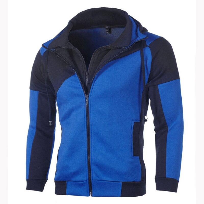 IceLion 2020 Autumn Hoodies Men Patchwork Zipper Cardigan Sweatshirts Slim Fit Sportswear Fashion Casual Tracksuit 1