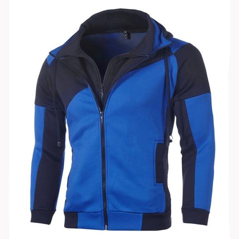 IceLion 2019 Autumn Hoodies Men Patchwork Zipper Cardigan Sweatshirts Slim Fit Sportswear Fashion Casual Tracksuit Dropshipping Lahore