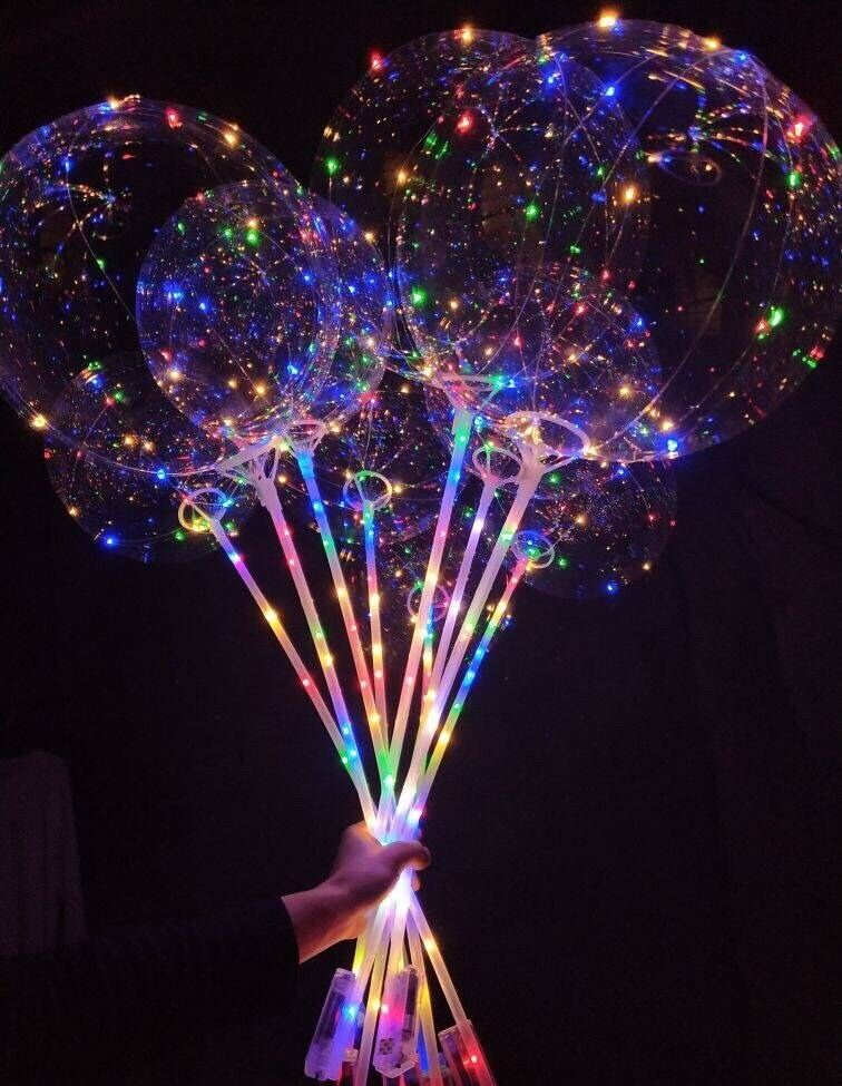 Event & Party Weigao 18inch Clear Latex Balloons With 30 Led Lights Transparent Led Bobo Balloons Wedding Balloons Birthday Party Decoration Ballons & Accessories