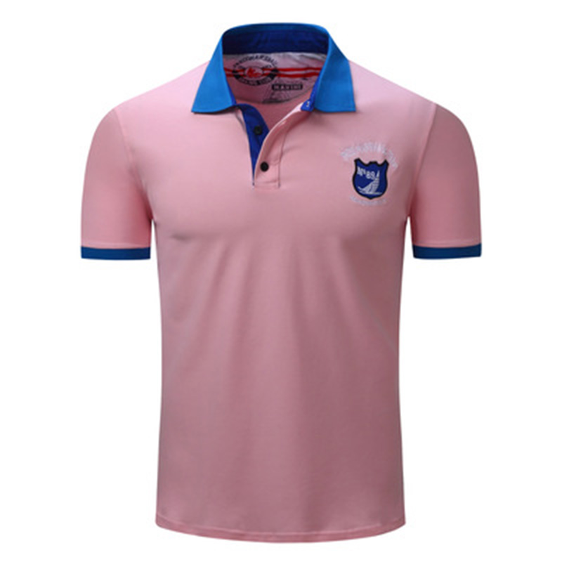 ZYFPGS 2018 Pink Summer Mens   Polo   Shirts Sales Leader XXXL Men's   Polo   Short Sleeve Casual Popular Brand Designer Cutting Z0616