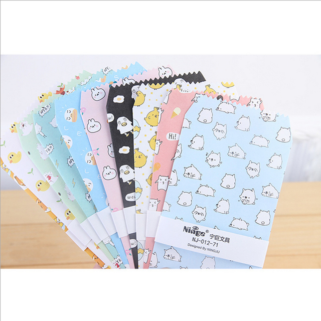 5pcs lot cartoon cute eggs envelope writing paper stationery kawaii