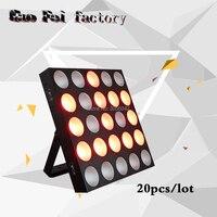 20pcs/lot led stage light dmx control 25x10w led dot matrix 5x5 led matrix