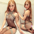 2016 hot Sexy Lingerie Fishnet Set Nets Hot Open Crotch Sex Erotic Lingerie Sexy Costumes Women Lady Mesh Bodysuit Bodystocking