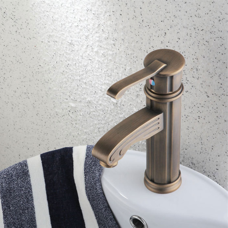 Free Shipping Luxury antique bathroom mixer tap with solid brass antique basin sink faucet and single handle kitchen sink faucet old antique bronze doctor who theme quartz pendant pocket watch with chain necklace free shipping