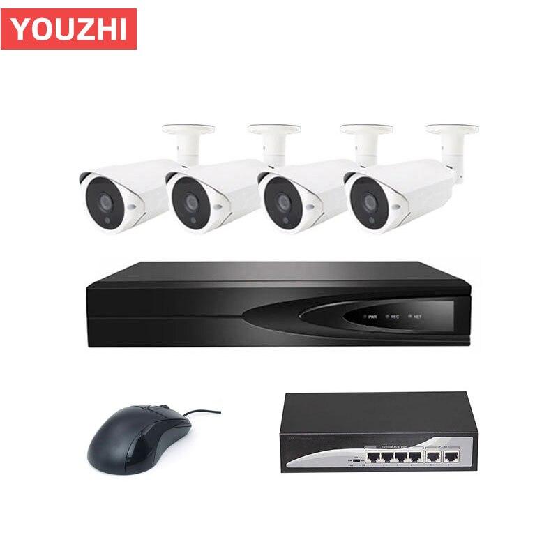 Bonne Nuit vision 3mp poe nvr système de vidéosurveillance 3 maga pixel caméra cctv kit