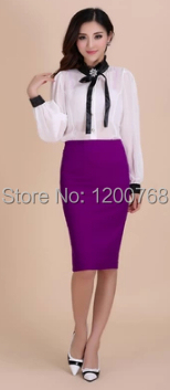 Purple Pencil Skirt Promotion-Shop for Promotional Purple Pencil ...