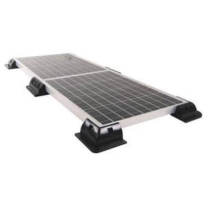 Image 2 - 4Pcs ABS Kanten Solar Panel Halterungen Schwarz Ecke Set Kit Für Yacht/Solar Panel