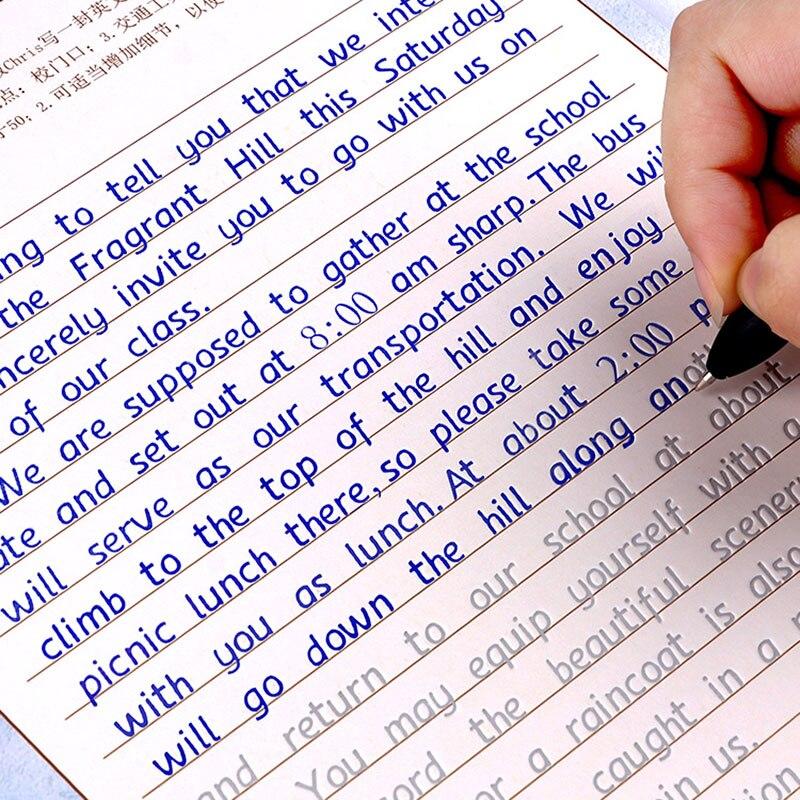3 adet Yazma İngilizce Kaligrafi Defterini Yetişkin Çocuklar için Egzersizleri Kaligrafi Alıştırma Kitabı libros Defterini Çocuklar Için